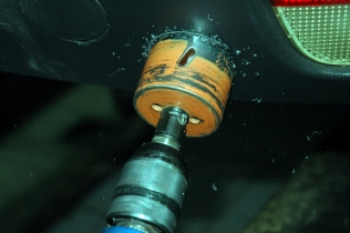 Holesaws are one of LPG system installers' basic tools
