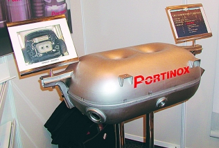 A shaped LPG tank by Portinox