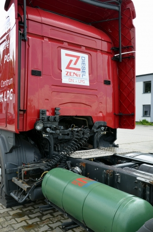 ZENIT PRO DIESEL on a Scania truck