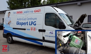 A Renault Master with a ZENIT PRO DIESEL system