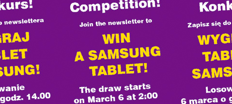 Join the newsletter and win a tablet!