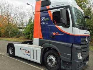 Howard Tenens' dual-fuel Mercedes Actros