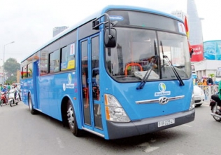 A Vietnamese-built Hyundai Super Aero City bus