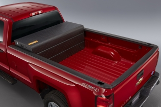 Chevrolet Silverado CNG - gas tanks mounted inside the cargo bed