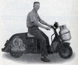 Ralph Carlton's LPG-powered scooter