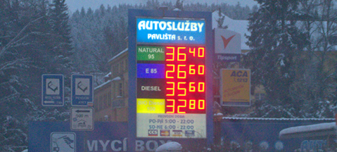 CNG and E85 keep petrol in Czech