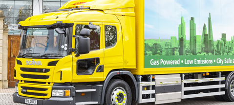 DHL's gas-powered Scania at Clean Cities