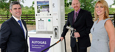 Multimedia autogas pump in Great Britain