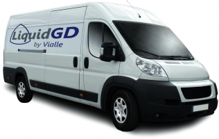A van featuring the LiquidGD by Vialle system