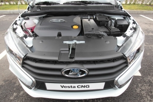 Lada Vesta CNG - the engine bay