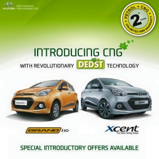 Hyundai Grand i10 and Xcent CNG leaflet