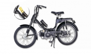 Jordan Motors Blackswan LPG-powered moped