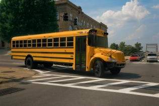 IC Bus CE Series autogas-powered school bus