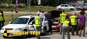 LPG car crash test inside out