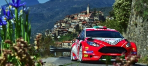 Basso in Fiesta R5 LDI second at Rally Sanremo