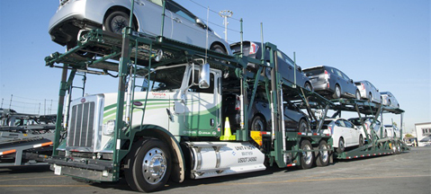 CNG car hauler tested by Toyota
