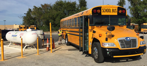 Maryland's first LPG school bus now running