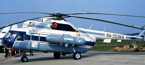 Mi-8TG - LPG-powered helicopter