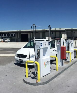 Compac's LPG autogas dispensers at a refueling station