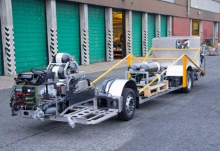 Natural gas doubledecker chassis