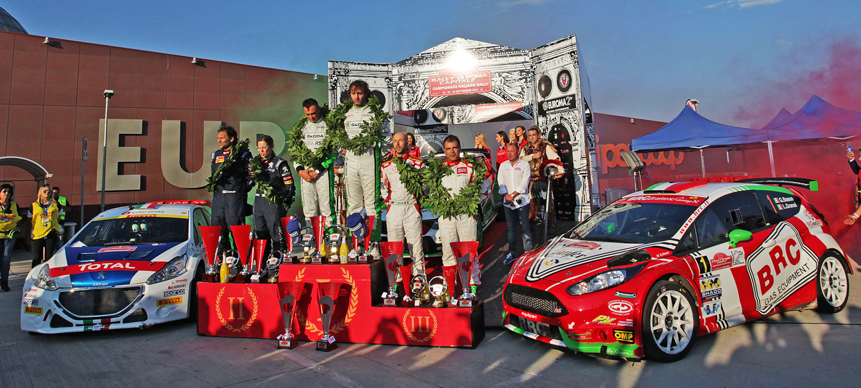 Basso third at Rally di Roma Capitale 2016