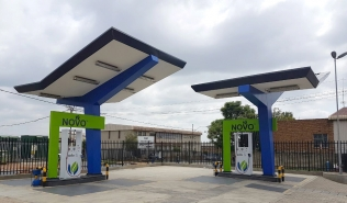 Compac dispensers at NOVO Energy's station in Johannesburg, RSA