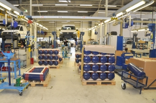 Volkswagen Caddy TGI BlueMotion at the Volkswagen of Poland coachbuilding facility in Swarzędz