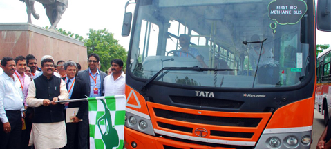 Tata Motors debuts new biomethane engines