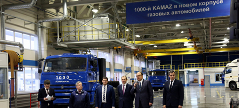 The 1000th methane Kamaz
