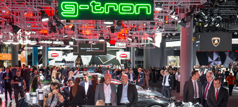 CNG cars at IAA 2017 in Frankfurt