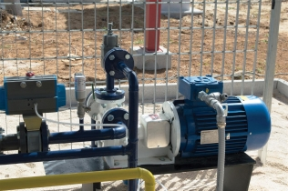 Ebsray RC40 Series Regenerative Turbine Pump at an LPG refueling station in Italy