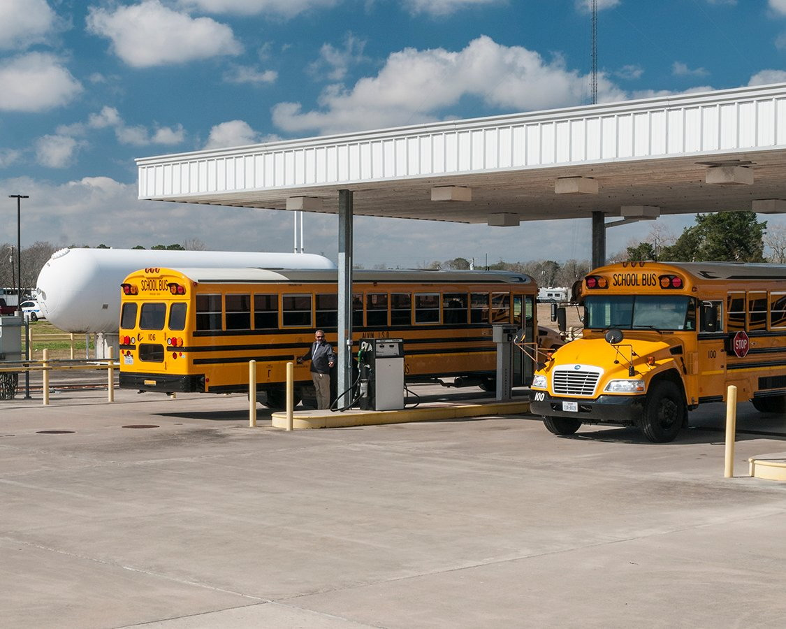 LPG school buses by numbers